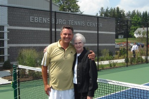 Tennis Director, Jamie Taylor, and Vicki Askew at the 2007 Ebensburg Tennis Center inauguration.